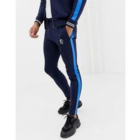 Gym king skinny joggers in navy with side stripe - navy