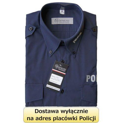Koszula granatowa policji z długim rękawem marki Sortmund
