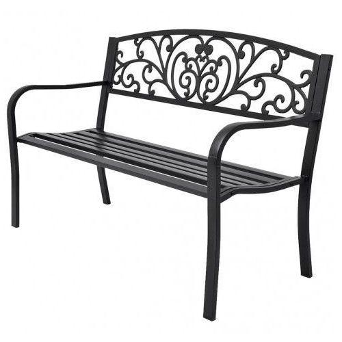 Elior Metalowa ławka ogrodowa clyde - czarna