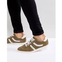 rumba stripe trainers in khaki - green marki Boss