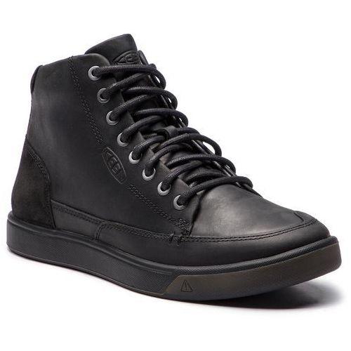 Trzewiki KEEN - Glenhaven Sneaker Mid 1019517 Black/Black, kolor czarny