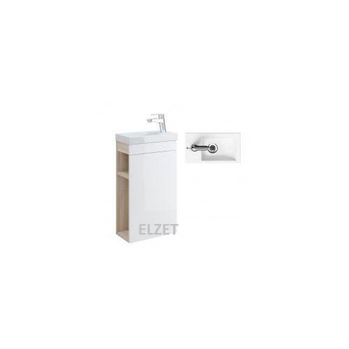 CERSANIT szafka Smart jasny jesion/biała + umywalka Como 40 S568-022+K32-001, S568-022.K32-001