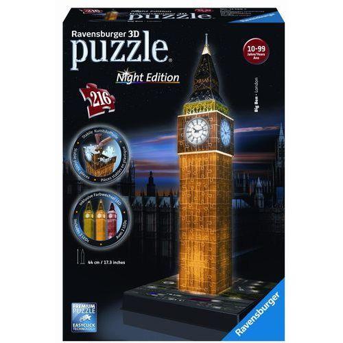 Puzzle 3D Big Ben nocą + zakładka do książki GRATIS (4005556125883)