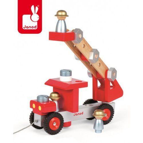 Janod  wóz strażacki do składania drewniany duży (3700217364984)
