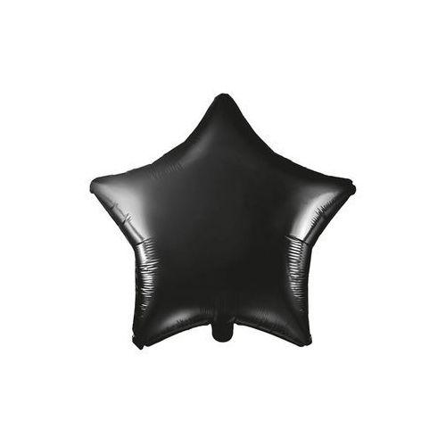 Balon foliowy gwiazdka czarna - 48 cm - 1 szt. marki Party deco