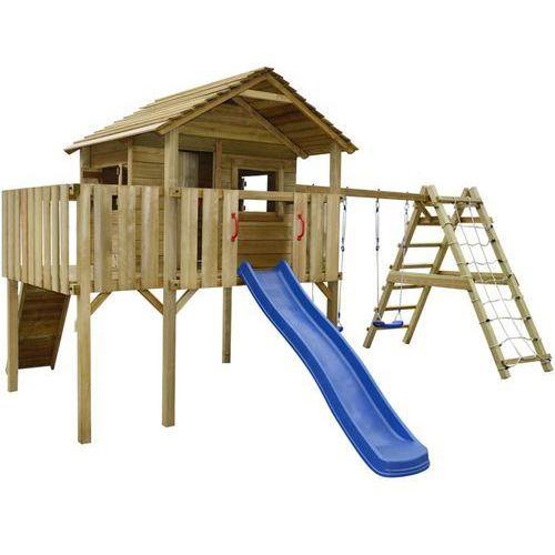 plac zabaw z siatką, zjeżdżalnią i huśtawkami 560x440x294 cm marki Vidaxl