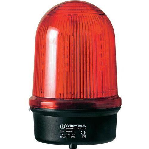 Lampa okrągła LED Werma Signaltechnik 280.120.68, Światło ciągłe, IP65, czerwony, 280.120.68