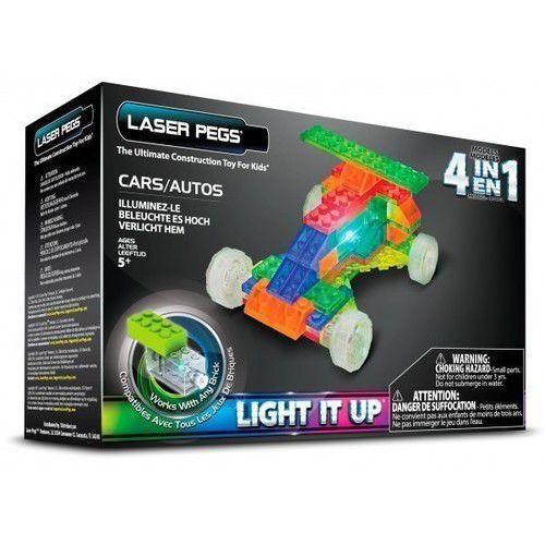 Klocki Laser Pegs 4w1 samochód świecące. MPS300B