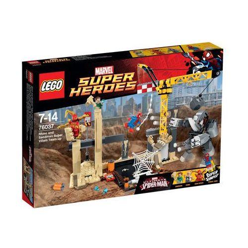 Lego SUPER HEROES Wspólny atak superłotrów rhino i sandmana 76037