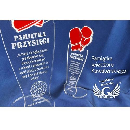 Grawernia.pl - grawerowanie i wycinanie laserem Pamiątka wieczoru kawalerskiego - rękawice bokserskie - model dta32 - wysokość 25 cm. Najniższe ceny, najlepsze promocje w sklepach, opinie.