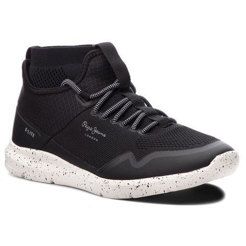 Sneakersy PEPE JEANS - Wade Knitsock PMS30492 Black 999, kolor czarny