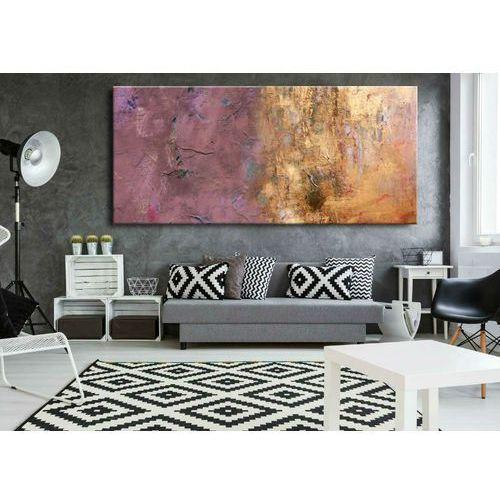 Duże obrazy nowoczesne - ręcznie malowane - subtelny fiolecik metalicznym wykończeniem