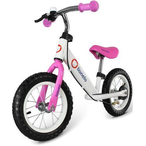 Rowerek biegowy  dex hamulec z kaskiem i ochraniaczami różowy marki Lionelo