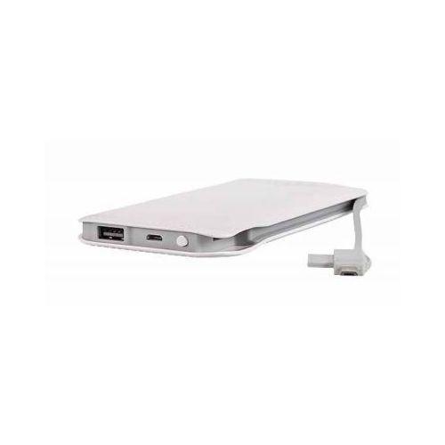 Bateria Zewnętrzna Power Bank Tel1 Slim 8000mAh Biały (5900217200413)