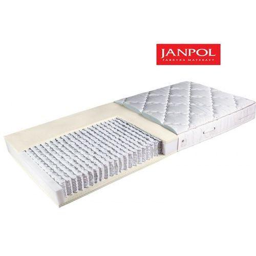 Janpol andromeda - materac multipocket, sprężynowy, rozmiar - 160x200, twardość - średni, pokrowiec - jersey standard wyprzedaż, wysyłka gratis (5906267034978)