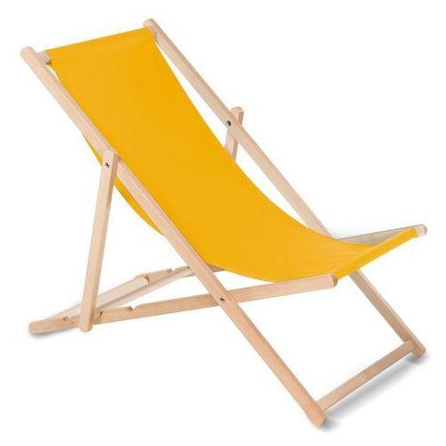 Leżak bukowy żółty marki Greenblue
