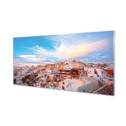 Tulup.pl Obrazy na szkle grecja panorama miasto zachód słońca