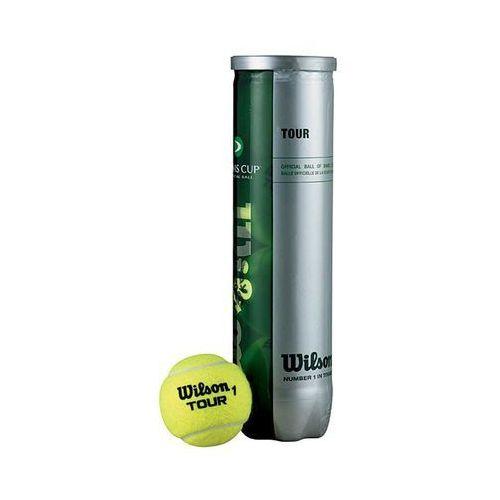 Wilson Piłki tenis ziemny tour davis cup 4 sztuki 115400 (2010000281543)