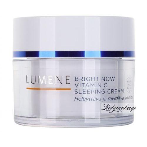 - bright now - vitamin c - sleeping cream - rozświetlająca nocna kuracja odmładzająca od producenta Lumene