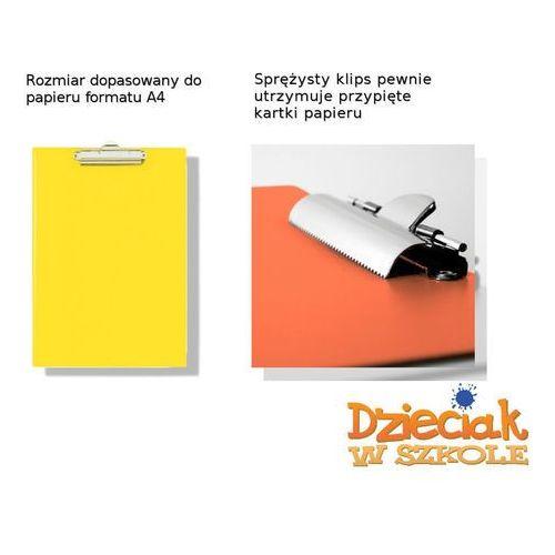 Klip A4 Deska żółty - BIURFOL (5907214101187)