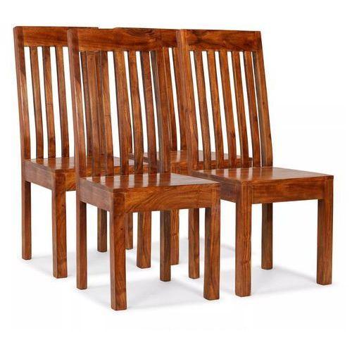 Krzesła z litego drewna stylizowanego na sheesham, 4 szt.
