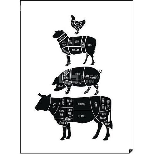 Follygraph Plakat meat cuts ed. spring 2016 30 x 40 cm