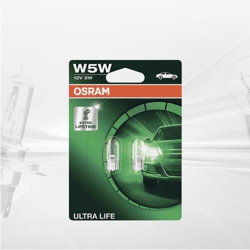 w5w 12v 5w w2,1x9,5d ultra life® (do 3 razy dłuższa trwałość) marki Osram