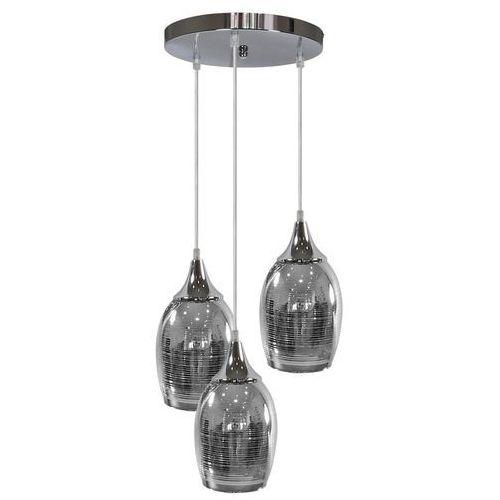 Candellux Lampa wisząca marina 33-60181 skandynawska oprawa szklana zwis kaskada srebrna (5906714860181)