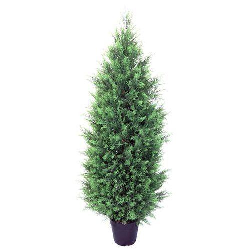 OKAZJA - Greentree Sztuczne drzewo cyprys 120 cm drzewko jak tuja - cyprys 120 cm