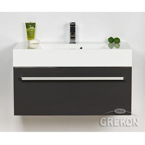 Szafka wisząca z umywalką kolor szary 80/50 seria fokus sz marki Gante