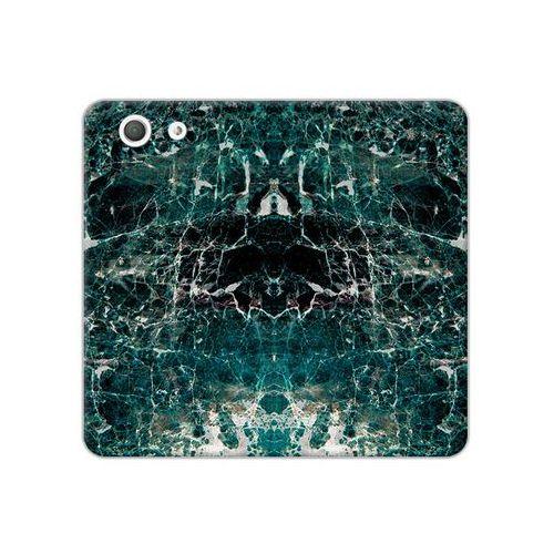 Sony Xperia Z3 Compact - etui na telefon Flex Book Fantastic - zielony marmur, ETSN133FBFCFB031000