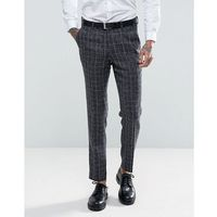 skinny fit blue checked suit trousers - blue marki Gianni feraud
