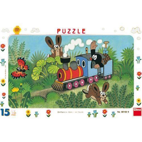 DINO Puzzle Planszowe Krecik i lokomotywa 15szt (8590878001039)