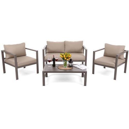 Zestaw mebli aluminiowych stół, krzesła, kanapa pampeluna d marki Home&garden
