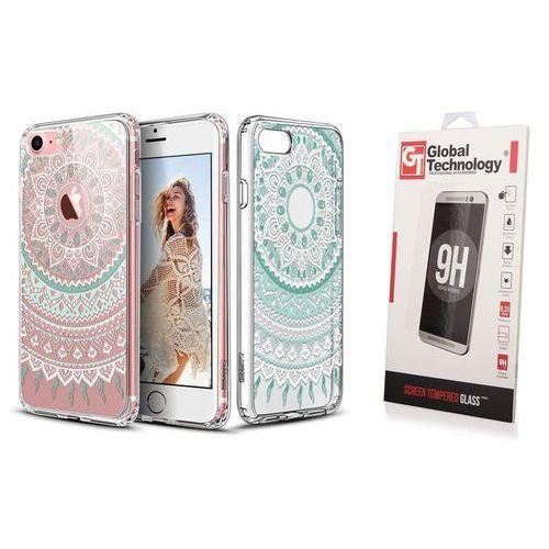 ZESTAW | ETUI ESR ART CASE MINT MANDALA + SZKŁO PERFECT GLASS - iPhone 7 / 8