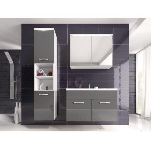 Shower design Komplet nina z ledami - meble łazienkowe - lakier szary