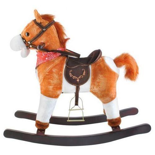 Koń na biegunach 74cm/K6028 - jasny brąz