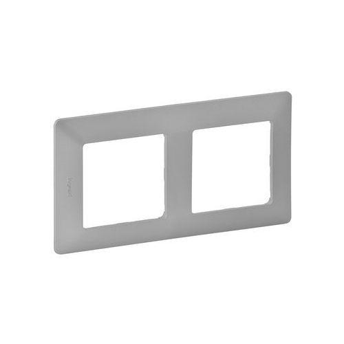 Legrand 754132 - Ramka dla przełączników VALENA LIFE 2P aluminium (3414970455048)