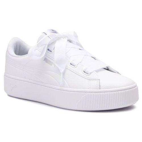 Puma Sneakersy - vikky stacked ribb core 369112 02 puma white/puma white