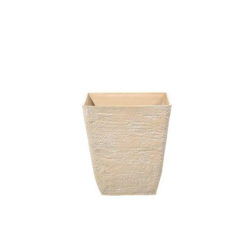 Doniczka beżowa kwadratowa 39 x 39 x 43 cm girasole marki Blmeble