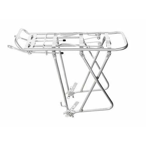 "OKAZJA - Aluminiowy bagażnik rowerowy regulowany 24""-26""-28"" srebrny marki Apg"