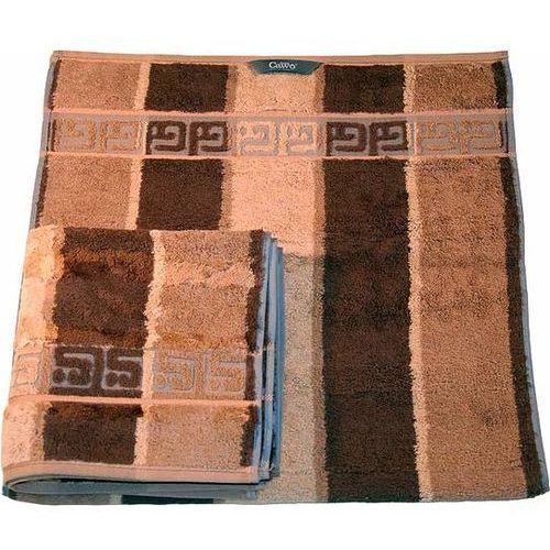 Cawo Ręcznik brązowy 100x50 cm noblesse pasy (4011638695359)