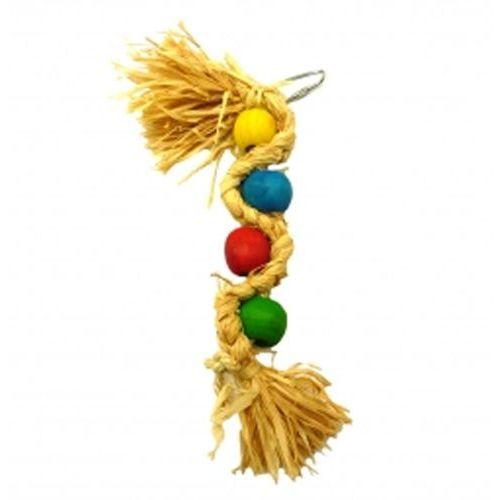 Happypet Naturalna zabawka dla ptaków dużych - plaited wave