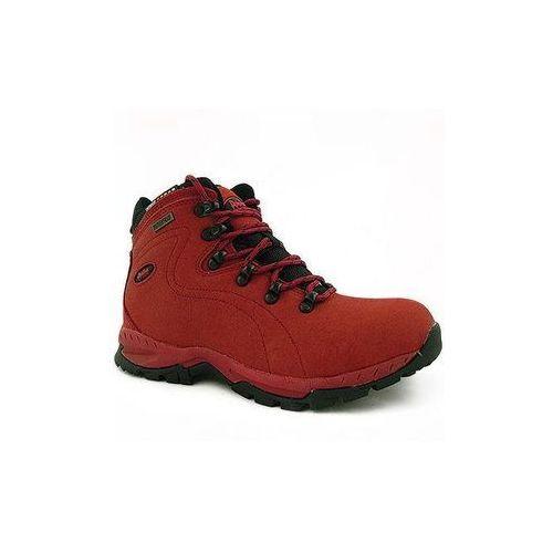 Buty trekkingowe damskie czerwone skórzane LOS9012 czerwony 38 - produkt z kategorii- Trekking i Nordic walking