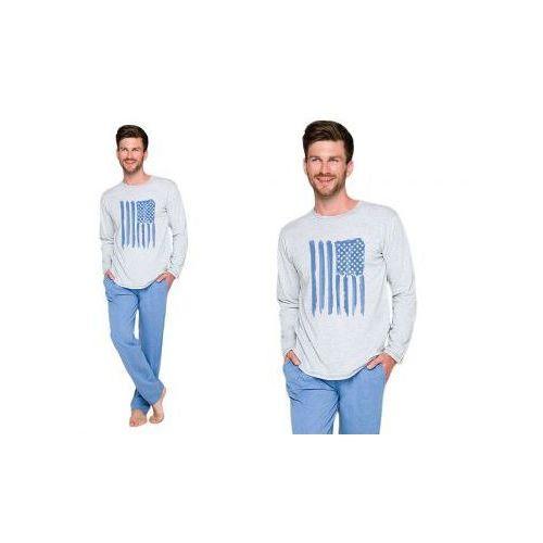 Piżama męska KAROL: niebieski, kolor niebieski