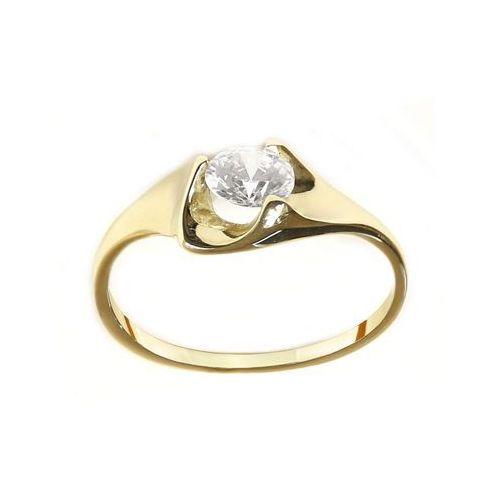 Saxo Pierścionek złoty zp.a.222.01 biżuteria damska ze złota pr.585 14 karat