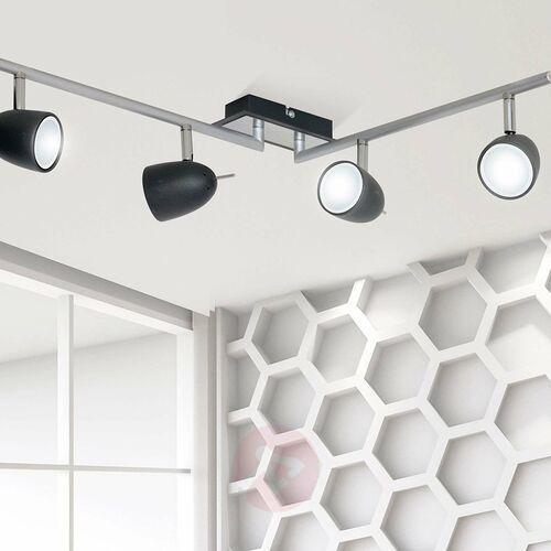 Luminex Plafon taylor 6498 spot lampa sufitowa 4x8w gu10 czarny / chrom