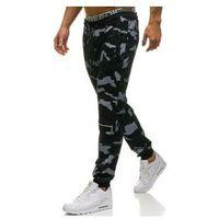 Spodnie męskie dresowe joggery czarne Denley W1600, kolor czarny
