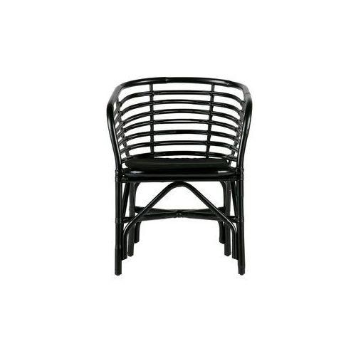 Woood krzesło do jadalni sanne ratanowe czarne 373598-z