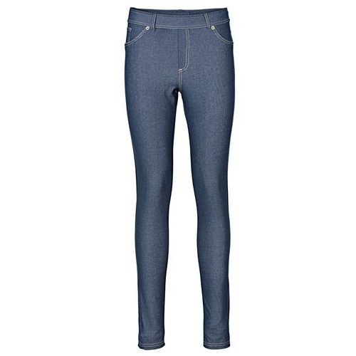 Legginsy o wyglądzie dżinsów  niebieski